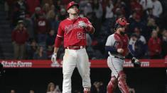 Mike Trout's line drive was the hardest-hit ball by an Angel since 2015