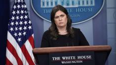 Sarah Sanders says she was told to leave restaurant because she works for Trump