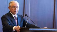 Attorney General Jeff Sessions says 'lock her up' at high school event