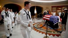 'He's my hero': Some mourners travel for hours to remember McCain