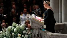 The subtle digs at President Trump during John McCain's funeral