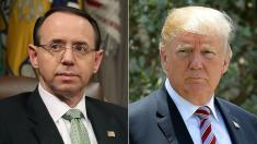 Deputy AG Rosenstein, who oversees Mueller probe, to meet with Trump on Thursday