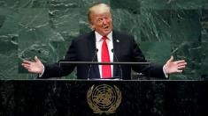 Trump greeted with laughter while touting his administration at UN