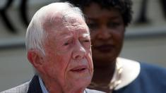Jimmy Carter wades into Georgia governor's race