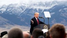 Trump hails 'beautiful' barbed wire on southern border in Montana rally speech