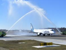 Now boarding: Everett's Paine Field and Alaska Air celebrate first passenger flights