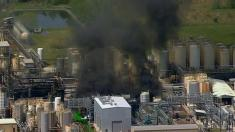 Huge explosion and fire rocks Texas chemical plant