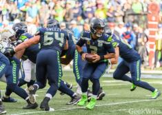 Russell Wilson reportedly gifted his offensive linemen $12,000 each in Amazon stock