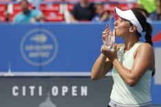 Pegula breezes past Giorgi for first WTA title