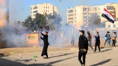 US troops fire tear gas to disperse protesters outside Baghdad embassy