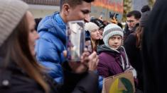 Greta Thunberg joins climate strike on last day in Davos
