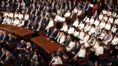Democratic congresswomen send message by wearing white to State of the Union