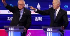 Fiery Democrats create a chaotic debate for CBS News
