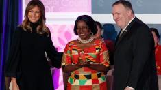 First lady helps honor women from 12 countries for courage