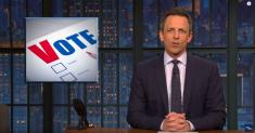 Late-night TV hosts dig into Super Tuesday under a coronavirus cloud