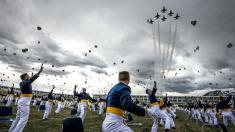 'Historic' Air Force graduation ceremony goes off with masks and social distancing