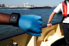 Antwerp port trials wristbands for coronavirus social distancing
