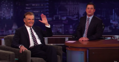 Fred Willard gets a hero's salute from Jimmy Kimmel and famous admirers