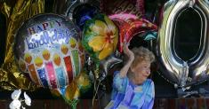 What a beloved ballet teacher gets for her 100th birthday: a drive-by party, of course