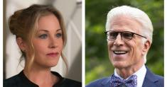 Sliding beer mugs and drinking on the job, Christina Applegate and Ted Danson look back