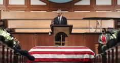 Column: John Lewis' funeral, a rhetorical master class, shows that great speeches still matter