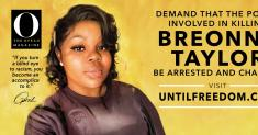 Oprah Winfrey's magazine posts Breonna Taylor billboards to demand justice