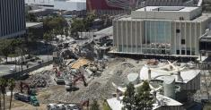LACMA demolition: Three buildings down, one more begins tear-down