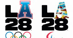 Athletes, artists and celebrities create unique logos for the 2028 L.A. Olympics