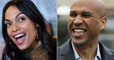 Rosario Dawson is delighted beau Cory Booker held his Senate seat in N.J.