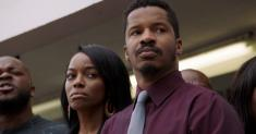Review: Nate Parker takes on police brutality in 'American Skin,' but the drama plays like parody