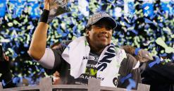 Seahawks quarterback Russell Wilson gives linemen Amazon stock that could be worth a bundle