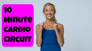10 Minute Total Body Cardio Circuit Workout Video.