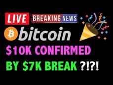 Bitcoin 7K HAS CONFIRMED RUN TO 10K! LIVE Crypto Trading Analysis & BTC Cryptocurrency Price News