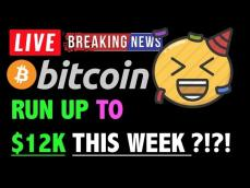 Bitcoin RUN UP TO 12K THIS WEEK! LIVE Crypto Trading Analysis & BTC Cryptocurrency Price News