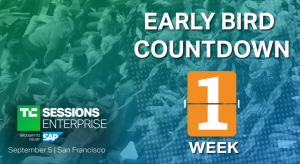 Early-bird pricing ends next week for TC Sessions: Enterprise 2019