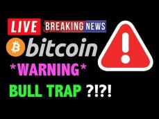 Bitcoin WARNING GIGANTIC BULL TRAP!LIVE Crypto Trading Analysis & BTC Cryptocurrency Price News