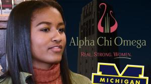 Sasha Obama a Sorority 'Rush Crush' at University of Michigan