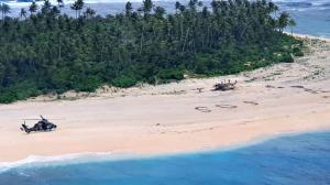 SOS message saves men stranded on tiny, uninhabited island