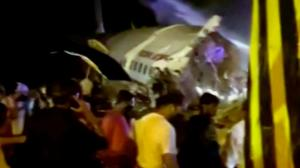 Air India plane crashes on landing with almost 200 onboard