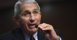What ran through Dr. Fauci's mind when Trump suggested injecting disinfectant?