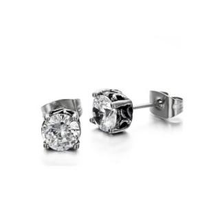 ZUNCLE Korea Fashion PriaWanita Diamond Titanium Steel Earring (Putih)