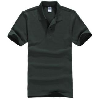 Pria Polo ShirtShort Lengan Golf Tenis Shirt (Dark Green)-Intl:L