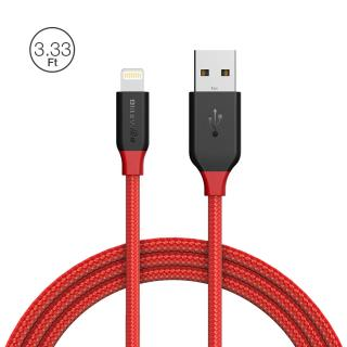 BlitzWolf® Ampcore BW-MF7 2.4A Lightning Braided Charging Data Cable 3.33ft/1m for iPhone 8 Plus X