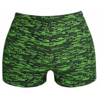 Man Splicing Letters Swimming Trunks