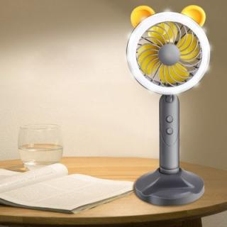 Z - 099 Mini USB 2 Modes Phone Holder Lamp Fan