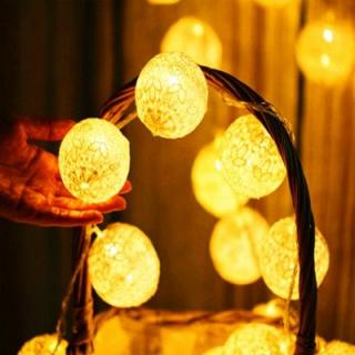 2m Handmade Lace Ball LED Strip Light