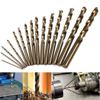 Drillpro 15pcs 1.5-10mm HSS M35 Cobalt Twist Drill Bit