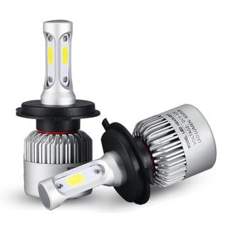 Pair 72W 8000LM COB LED Car Headlights Fog Lamps Bulbs H4 H7 H11 9005 9006 6500K White