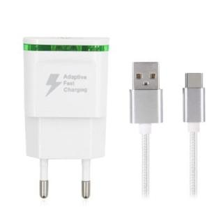 5V/2A Quick Charger EU Plug USB Charger Power Adapter + USB 3.1 Type-C Fast Charge Cable