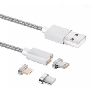 Type-C / Micro USB / 8 Pin Magnetic Data Charging Cable
